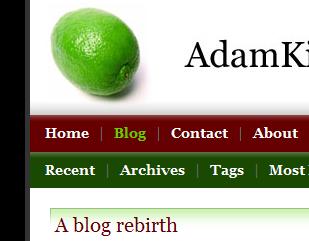 Section of Adam's Design