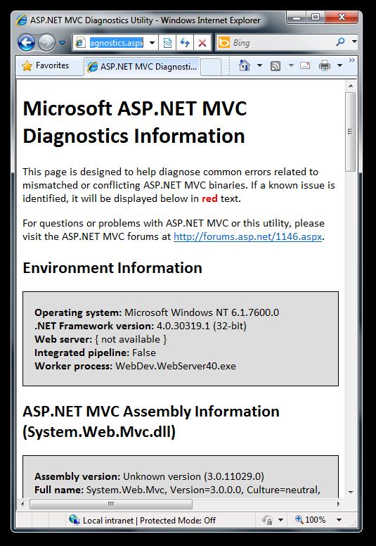 mvc-diagnostics