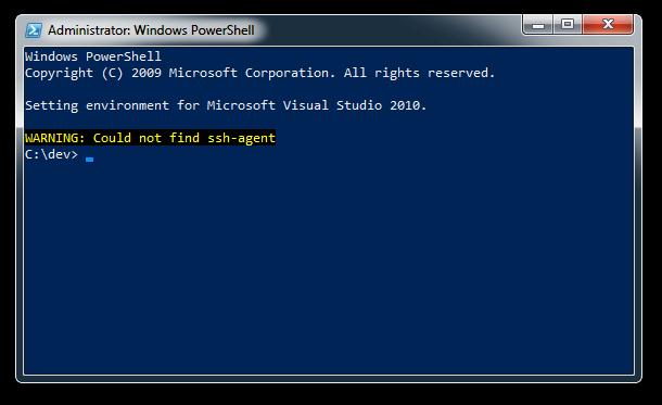 powershell-ssh-agent-not-found