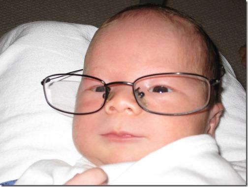 Newborn Cody With Glasses