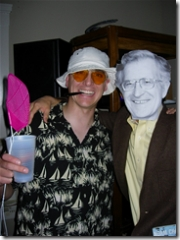 Hunter S. Thompson and Noam Chomsky