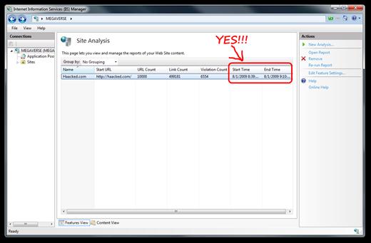 SEO Toolkit Screenshot