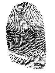 Fingerprint via public domain clipart