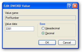 Port Number Value Dialog