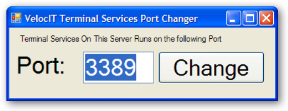 Terminal Services Port Changer