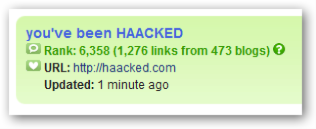 Haacked.com on Technorati - Rank 6358 (1276 links from 473 blogs)