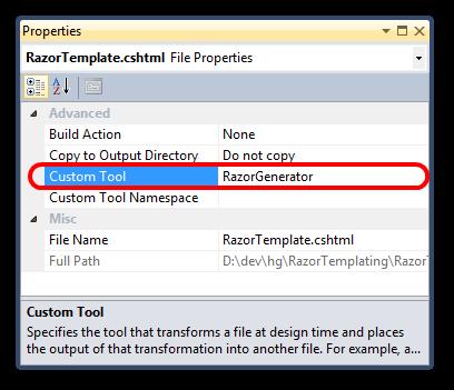 Razor-file-properties