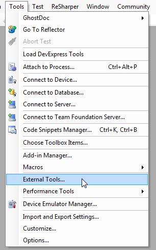 External Tools...