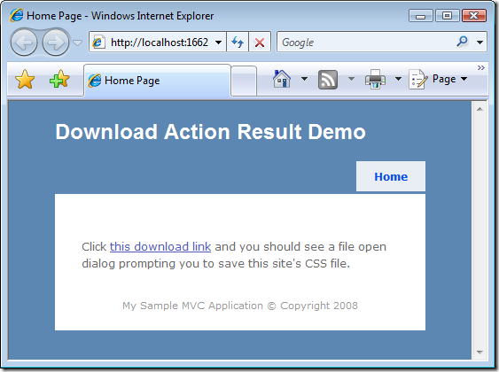 File Download HomePage